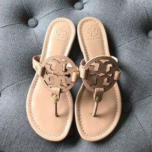 Tory Burch Tan Leather Sandals, worn once